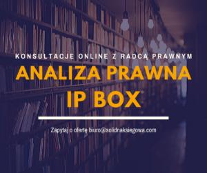 Analiza prawna IP Box