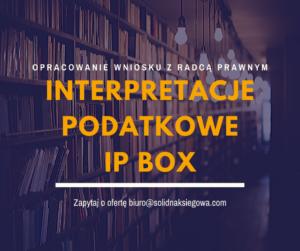 Interpretacja podatkowa IP Box