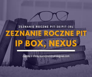 Zeznanie roczne IP box nexus