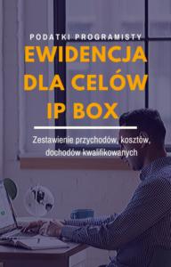 EWIDENCJA DLA CELÓW IP BOX