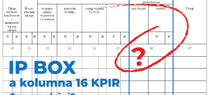 IP Box kolumna 16 KPIR