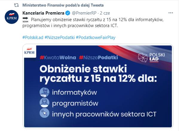 ryczałt programista 12%